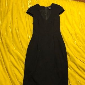 Black cap sleeved dress. Size 4.